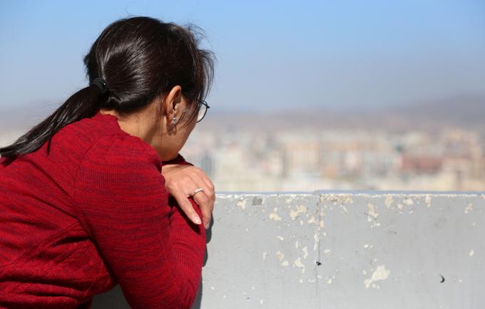Nyamka overlooking her home city of Ulaanbaatar.