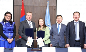 Oyu Tolgoi – UN Population Fund renew partnerships on youth development and to launch social survey in Umnugobi